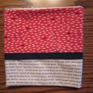 Fish and Words fits Standard or Queen Size Cotton Pillow Case