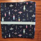 Spaceships Print fits Standard or Queen Size Cotton Pillow Case
