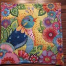 Floral Bird, Use for Mug Rug, Pot Holder or Casserole Hot Mat