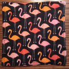 Flamingo Print, Use for Mug Rug, Pot Holder or Casserole Hot Mat