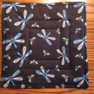 Dragonfly Print, Use for Mug Rug, Pot Holder or Casserole Hot Mat
