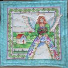 Jim Shore Angel with Flower Pot, Use for Mug Rug, Pot Holder or Casserole Hot Mat