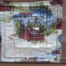 Cabin by Lake Pot Holder or Hot Pad