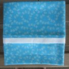 Aqua Butterflies fits Standard or Queen Size Cotton Pillow Case