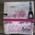 Eiffel Tower Print Standard or Queen Size Cotton Pillow Case