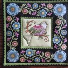 Green Bird Print, Use for Mug Rug, Pot Holder or Casserole Hot Mat