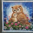 Brown Owl Pair, Use for Mug Rug, Pot Holder or Casserole Hot Mat -Sold as Single