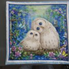 White Owl Pair, Use for Mug Rug, Pot Holder or Casserole Hot Mat - Sold as Single