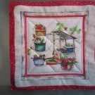 Produce Stand Strawberry Print, Use for Mug Rug, Pot Holder or Casserole Hot Mat