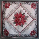 Single Poinsettia Design, Use for Mug Rug, Pot Holder or Casserole Hot Mat