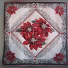 Triple Poinsettia Design, Use for Mug Rug, Pot Holder or Casserole Hot Mat