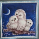 Beige Owl Family, Use for Mug Rug, Pot Holder or Casserole Hot Mat - Sold as Single