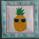 Sunglasses Pineapple, Use for Mug Rug, Pot Holder or Hot Mat - Handmade - sold single