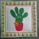 Cactus with Cherries, Use for Mug Rug, Pot Holder or Hot Mat - Handmade - sold single