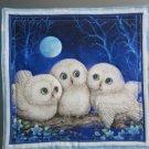 White Owl Siblings, Use for Mug Rug, Pot Holder or Casserole Hot Mat - Sold as Single