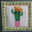 Sunglasses Cactus, Use for Mug Rug, Pot Holder or Hot Mat - Handmade - sold single