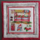 Produce Stand Cherries, Use for Mug Rug, Pot Holder or Casserole Hot Mat