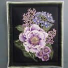Lavender Bouquet #2 on Black, Use for Mug Rug, Pot Holder, Hot Pad or Casserole Hot Mat