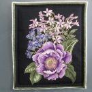 Lavender Bouquet #3 on Black, Use for Mug Rug, Pot Holder, Hot Pad or Casserole Hot Mat