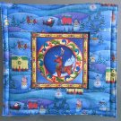 Reversible Jim Shore Reindeer, Large Mat to Use for Mug Rug, Pot Holder or Casserole Hot Mat