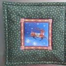 Reversible Jim Shore Reindeer on Green Pieced Cotton-Use for Mug Rug, Pot Holder, Casserole Hot Mat