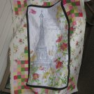 """""""Paris is always a good idea"""" Pieced Patchwork Quilt for Crib, Baby or Lap - Handmade Cotton"""