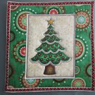 Christmas Tree, Use for Mug Rug, Pot Holder or Casserole Hot Mat