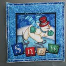 Christmas Snowman, Use for Mug Rug, Pot Holder or Casserole Hot Mat