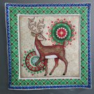 Christmas Reindeer, Use for Mug Rug, Pot Holder or Casserole Hot Mat