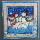Christmas Snow Couple, Use for Mug Rug, Pot Holder or Casserole Hot Mat