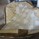 Pieced Small Quilt Christmas Tree Design Patchwork for Lap or Nap - Handmade