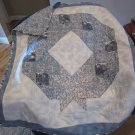 Pieced Small Quilt Christmas Wreath Design Patchwork for Lap or Nap - Handmade