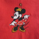Kitchen Tea Towel Disney Minnie Mouse Embroidered on Red Cotton