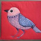 Pot Holder Bird on Red Design Casserole Hot Mat, Hot Pad - Handmade Cotton