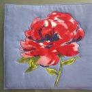 Pot Holder Red Flower Design Casserole Hot Mat, Hot Pad - Handmade Cotton