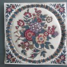 Unique Pot Holder Traditional Floral Design Large Casserole Hot Mat - Handmade