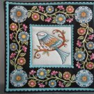 Blue Bird Print, Use for Mug Rug, Pot Holder or Casserole Hot Mat