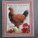 Large Pot Holder Poultry, Chicken, Geranium Hen Farm Design Hot Mat, Hot Pad