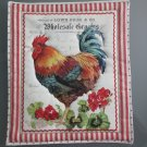 Large Pot Holder Poultry, Rooster Geranium, Chicken,  Farm Design Hot Mat, Hot Pad