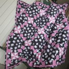 Baby or Toddler Quilt Sheep in Black and Pink Unique Pinwheel Patchwork Design