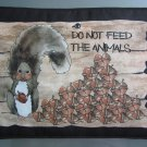 Large Pot Holder Woodsy Camping Do Not Feed the Animals Squirrel