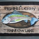 Large Pot Holder Woodsy Camping Fishing Derby at Rainbow Lake