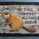 Large Pot Holder Woodsy Camping No Tree Chomping Beaver