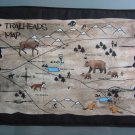 Large Pot Holder Woodsy Camping Trailheads Map for Hiking