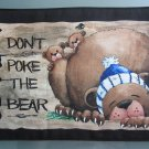 Large Pot Holder Woodsy Camping Don't Poke the Bear