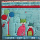 Pot Holder Unique Large Size Neighborhood Cat Tree on Left Casserole Hot Mat, Hot Pad
