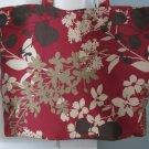 NEW Lg Dark Red Nature Print Folding Eco Friendly Tote Bag