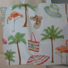 NEW Large Folding Eco Friendly Tote Bag - Pink Flamingos