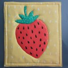Unique Pot Holder Strawberry Design for Summer Fun Picnic, BBQ Hot Pads Hot Mat