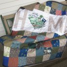 Patchwork Quilt Pieced Throw South Carolina Home - Handmade Cotton